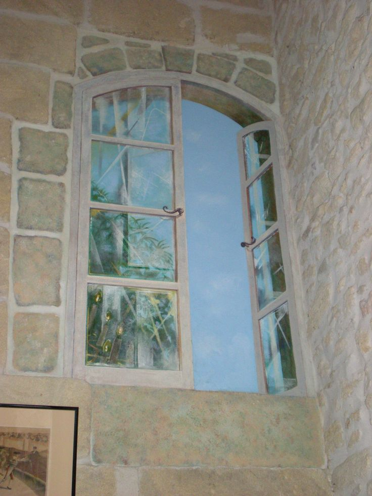 Trompe l'oeil, french window