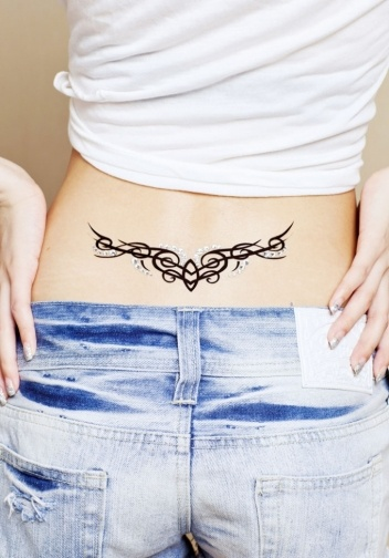 Fashion Smooth Line Rhinestone Temporary Waterproof Tattoo Stickers on BuyTrends.com, only price $24.99