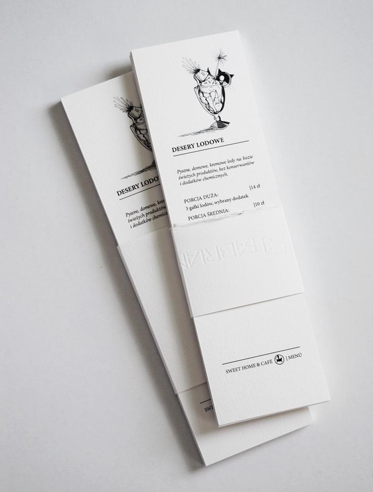Handmade menú booklets, 14,8 x 21cm.  Made & Designed by Ewelina Sosniak   Illustrated by Zuza Przybyszewska