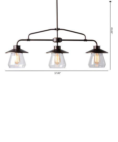 baxton studio dark bronze metal glass raissa three light kitchen rh pinterest com