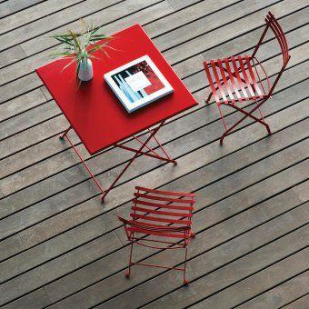 #design3000 Flower – zusammenklappbarer Stuhl aus Metall