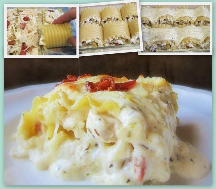Chicken Bacon Lasanga Rolls! - Easy and Cheesy :)