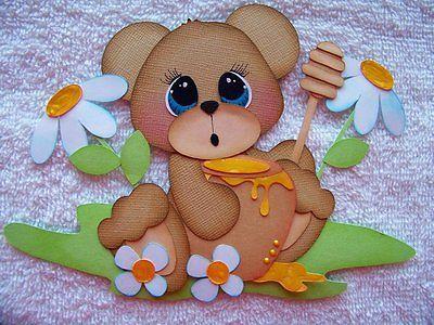Lori Boy Cute as Can Bee Paper Piecing Premade Scrapbook Tear Bear Iopg | eBay