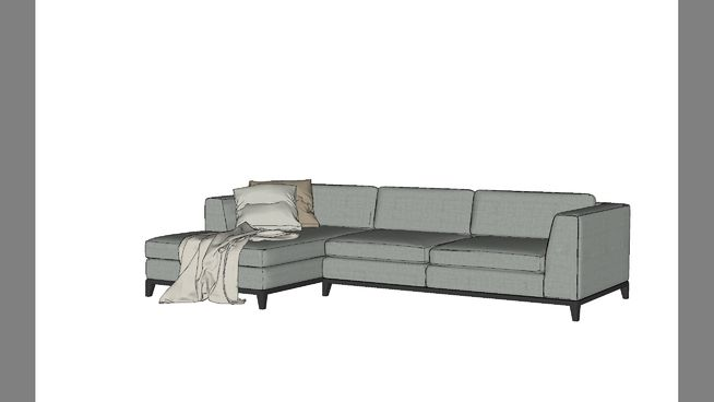 Large preview of 3D Model of sofa góc