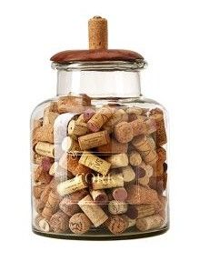 Butler's Pantry Cork Holder Decorative Jar