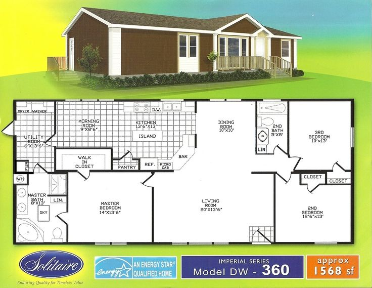 Double wide floorplans manufactured home floor plans for 16 foot wide mobile home floor plans