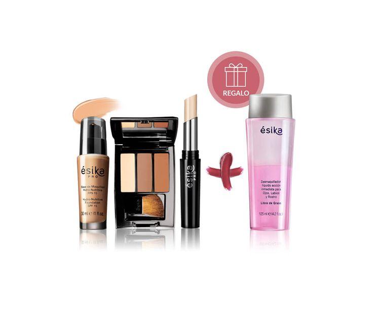 Luce una piel increíble con estos 3 productos para preparar tu rostro antes del maquillaje. El set incluye una Base de Maquillaje Hidronutritiva  (Tono: Rosa 1), un Corrector Facial Profesional (Tono: Beige 1,2,3), un Polvo Contorno Profesional y de regalo un desmaquillador.