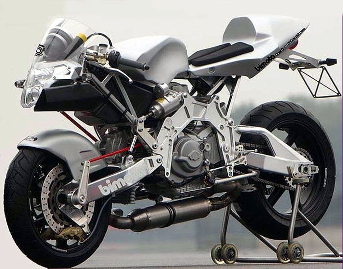 """The Bimota TESI 2D."""" I actually sat on one of these and"""