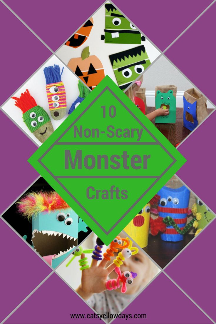 10 Non-Scary Monster Crafts10 Non-Scary Monster Crafts. Perfect for younger children at Halloween.