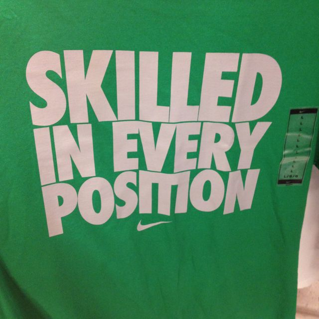 I love Nike shirt sayings...