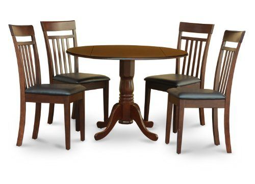 east west furniture dlca5 mah lc 5 pc set small table plus 4 kitchen rh pinterest com