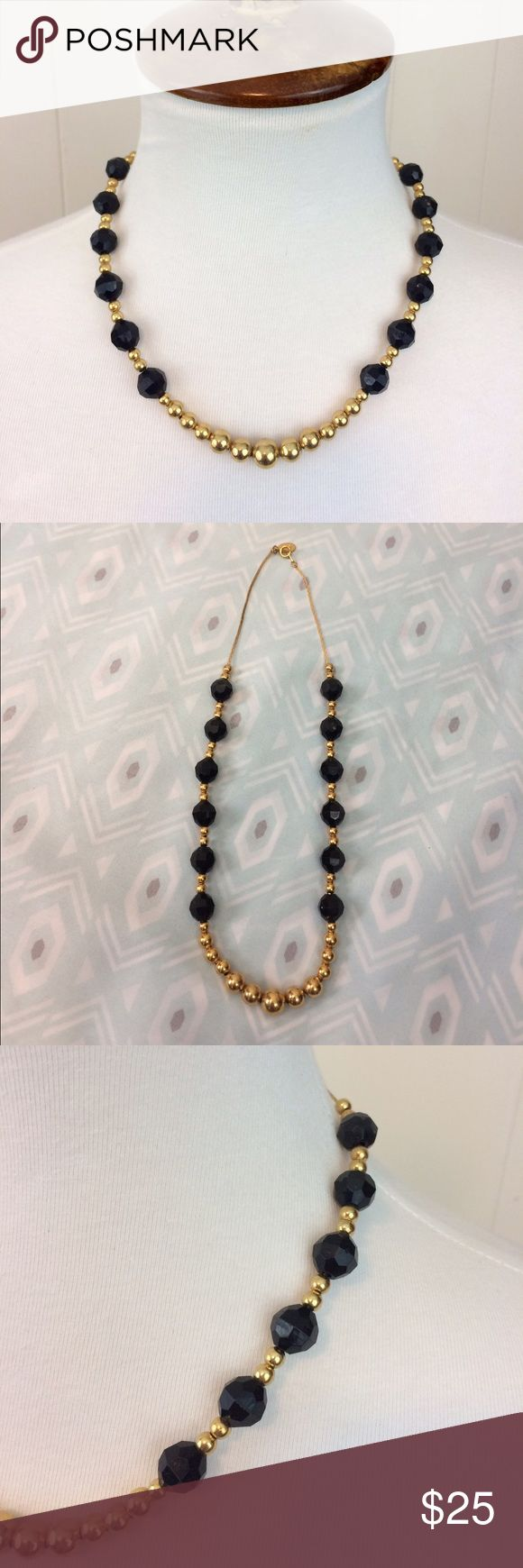 Vintage Park Lane Black & Gold Necklace • Vintage Park Lane black & gold necklace. • Really beautiful! • Preloved. • {If you have any questions please ask before buying.} •Colors may vary slightly from pictures• Park Lane Jewelry Necklaces