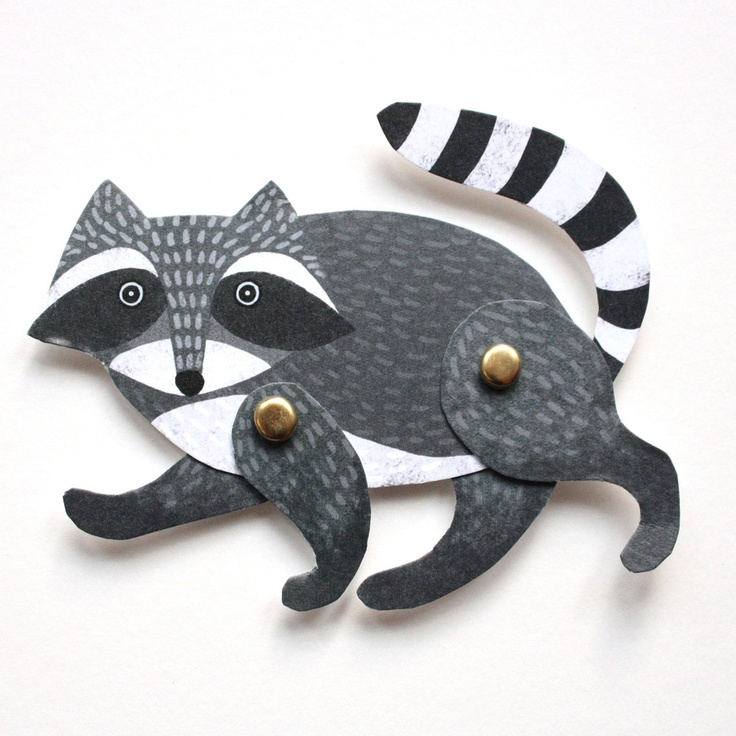 Alice Melvin — Cut Out and Make Raccoon Puppet Card--(show Nancy S.)