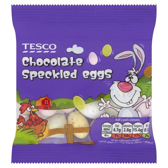 54 best easter images on pinterest toddlers buntings and cakes the perfect decoration for your easter cakes tesco chocolate speckled eggs 45g negle Gallery