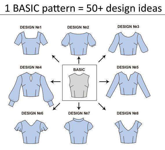 15 Modèles de couture PDF de base pour femmes | Tutoriels PDF pour femmes | Sch …   – Nähen