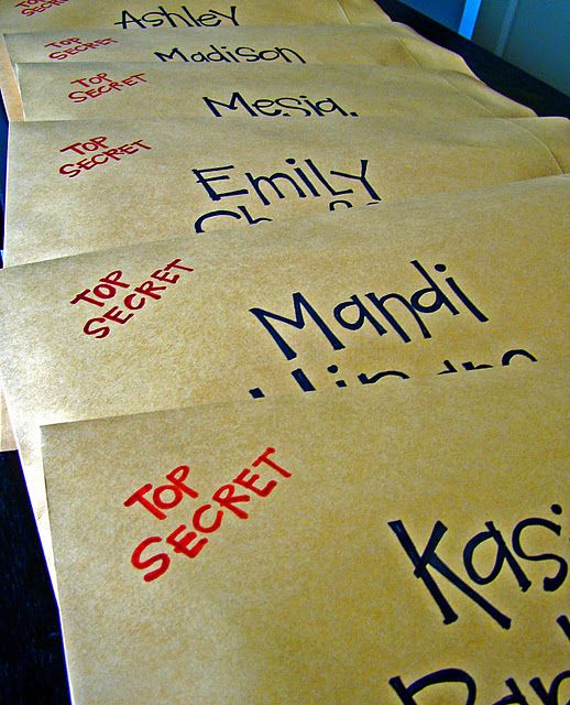 Mission Impossible Service Idea for yw - I want to have each girl have another girls name in our class...get a new name each week for 3 weeks. Undercover service.