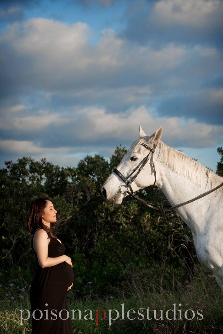 Gorgeous woman + a majestic white horse = <3 #maternity #photography #brisbane