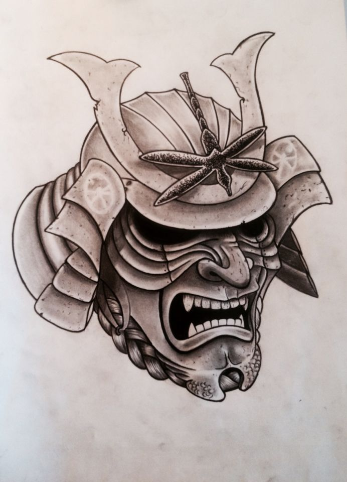 masque samoura samurai mask tattoo samurai tattoo mask tattoo. Black Bedroom Furniture Sets. Home Design Ideas