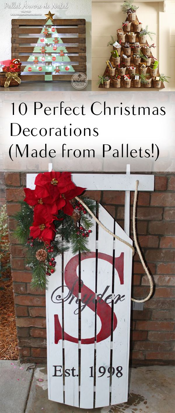 10 christmas decorations made from pallets