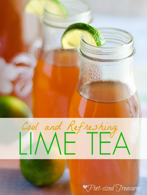Want to cool off with a refreshing drink? Try sweet and tangy lime tea! Add some fresh mint or raspberries for a twist of flavors! #icedtea #cooldrinks