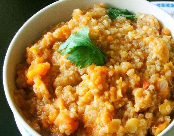 Receta paso a paso de quinoa y calabaza en un deliciosos y nutritivo risoto
