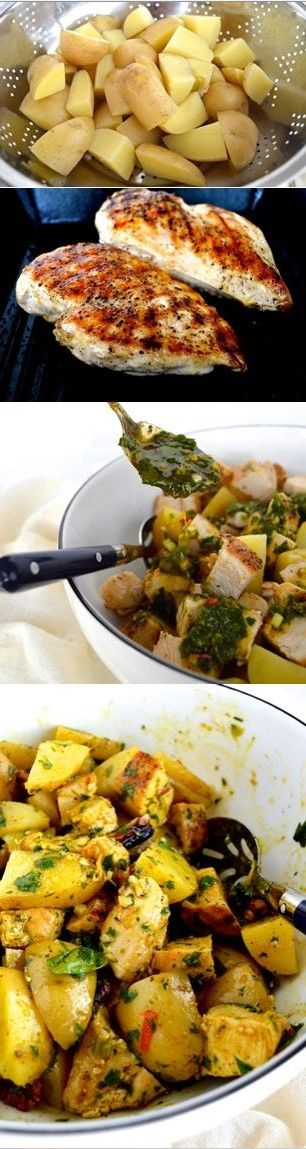 Curried Grilled Chicken Potato Salad