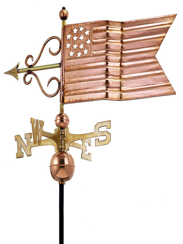 The Patriotic Standard Weather Vane makes the perfect crowning accent to your home. This handcrafted and charming weather vane will add sophistication and intricate style to your home. Created from me
