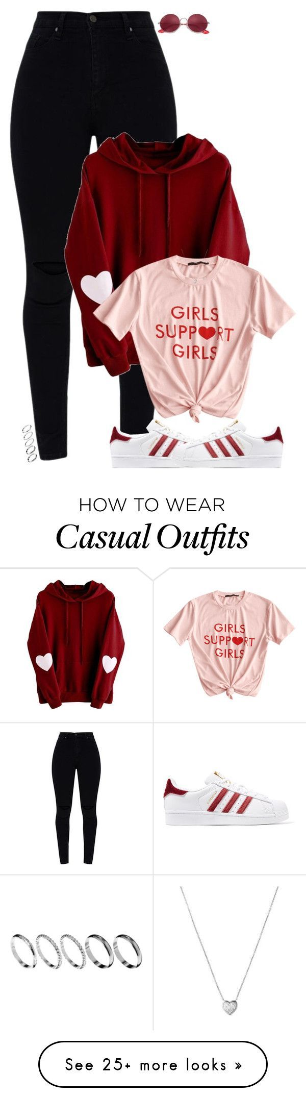 """""""feb.14"""" by fair-fair on Polyvore featuring Ray-Ban, adidas Originals, ASOS and Links of London #danceoutfits"""