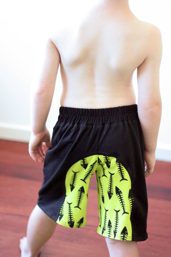 Surfer Shorts pattern - boys/unisex contrast  panel shorts - PDF pattern - child sizes 1 to 12 years