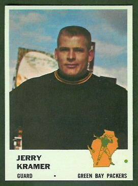 Jerry Kramer 1961 Fleer football card