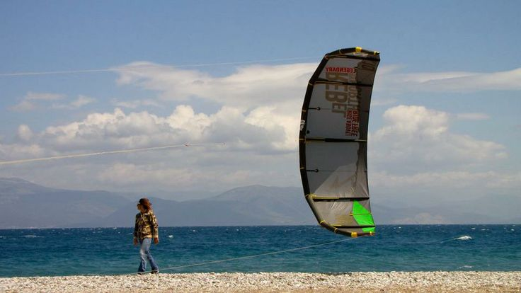 Kite-surfing in Sykia