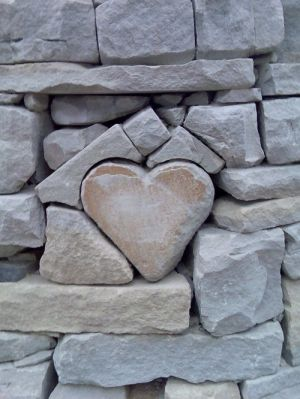 Heart set in stone...love it!