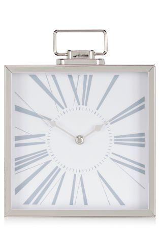 Buy Premium Chrome Mantle Clock from the Next UK online shop