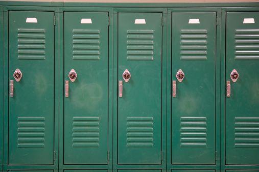 Green lockers. 6th grade. 201.