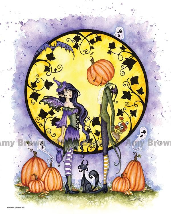 Amy Brown Fantasy Art Inc. 2 16x20 inch Halloween posters are now available. Limited to only 25 prints of each. http://www.amybrownart.com/g_pgall.asp?g=191