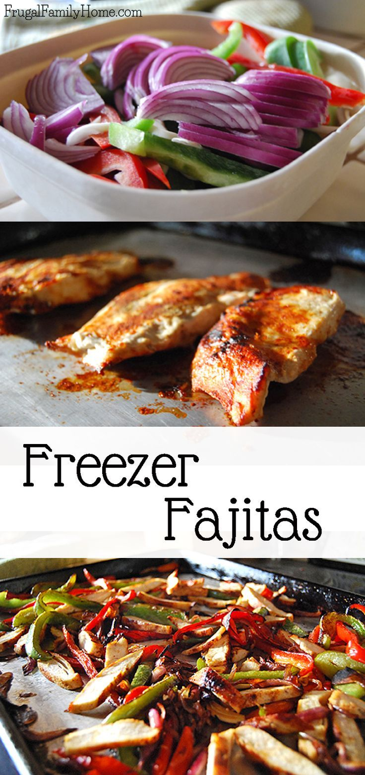 With this easy freezer meat pack you can have fajitas in no time flat. This is a great chicken recipe to tuck away in the freezer for a busy day.