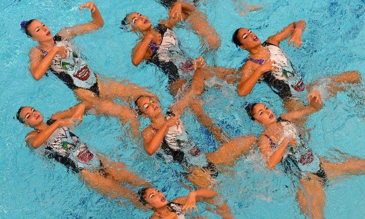 Η ομορφιά της συγχρονισμένης κολύμβησης #swimming #girlsinsports