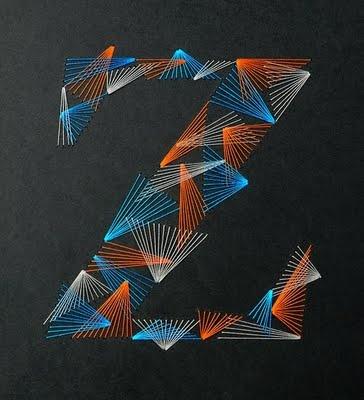 """3D Typography: Zim & Zou's """"Weave Type"""""""