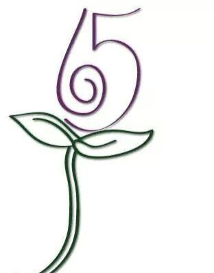 65 Roses Cystic Fibrosis Tattoo Would like the 65 to be Red and the Stem Purple