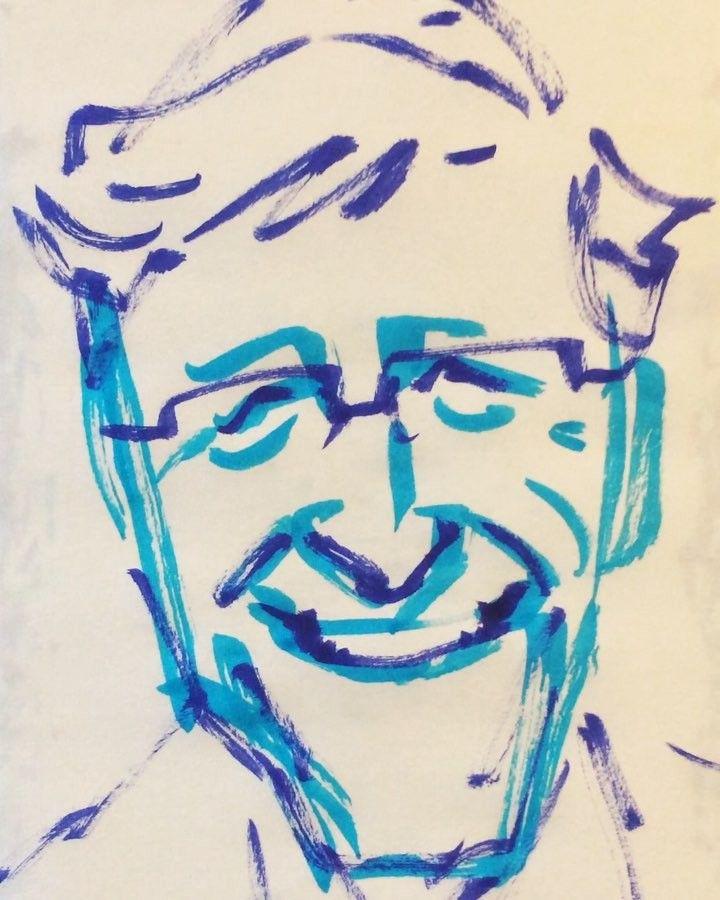 いいね!23件、コメント2件 ― @1mindrawのInstagramアカウント: 「#billgates #ビルゲイツ #microsoft #マイクロソフト #19551028 #birthday #1mindraw #一分描画 #誕生日 #portrait #似顔絵…」