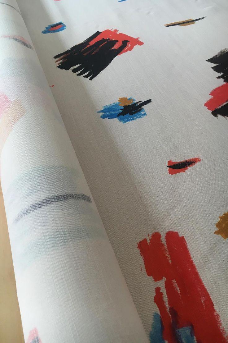 Olievlekken Linen fabric