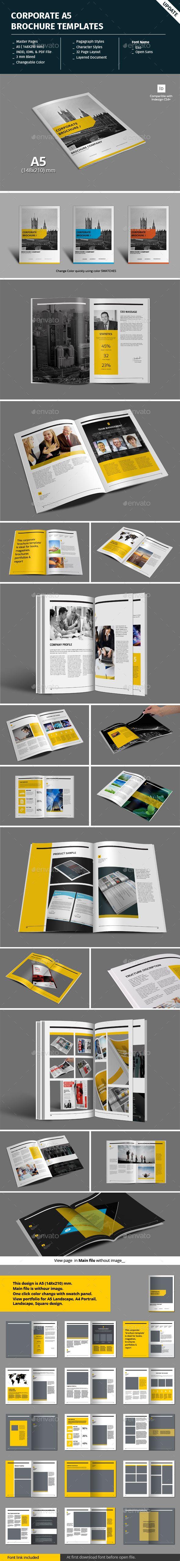 Corporate A5 Brochure Template