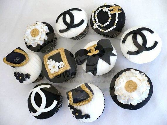 Chanel Cupcake Toppers By Sweettreatssj On Etsy 30 00
