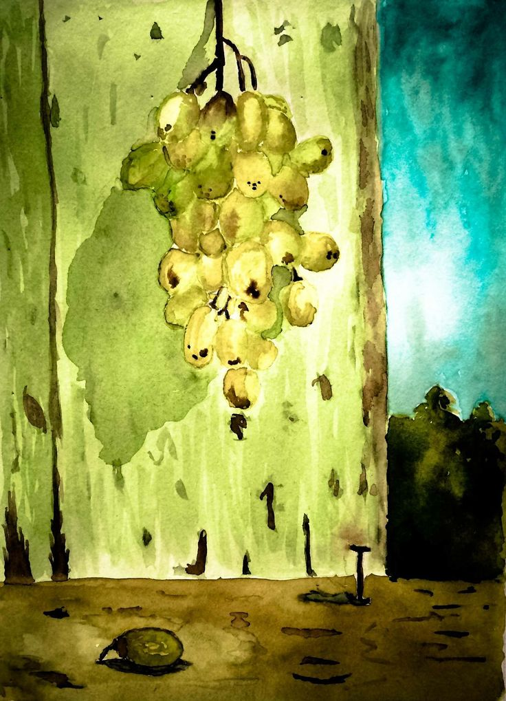 Watercolour grapes. My first try