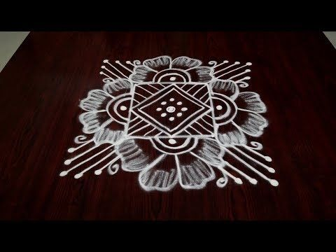 simple rangoli designs with dots for beginners freehand kolam designs daily easy muggulu designs - YouTube