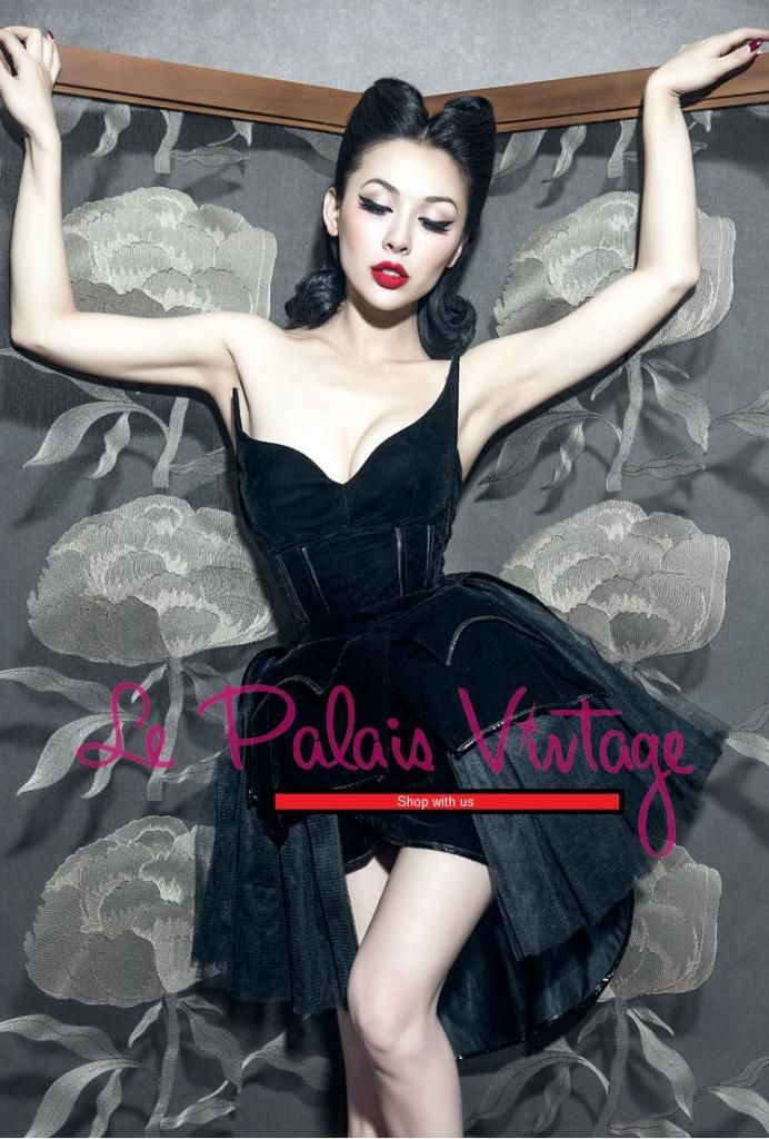 le palais vintage gothic retro pinup fishbone corset swallowtail velvet black swan dress