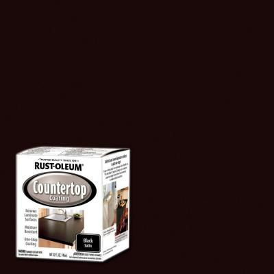 Rustoleum Countertop Paint Home Depot Canada : rust oleum specialty 1 qt black satin countertop interior paint case ...