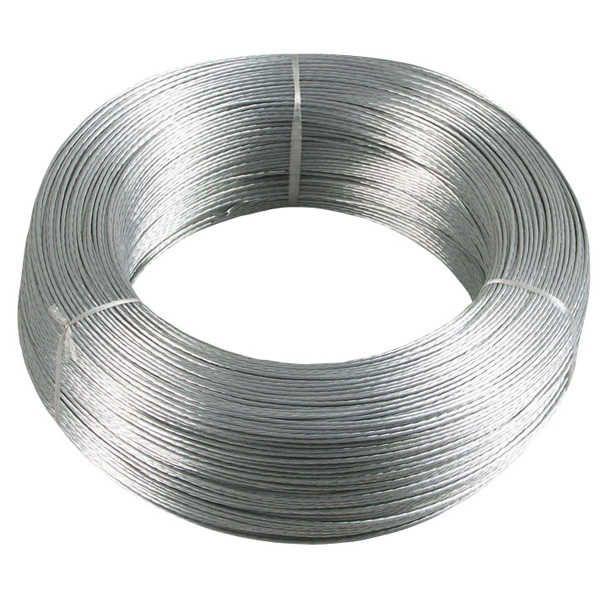 Verzinkte Metalllitze                                              Ausführung:                                  500 m Ring                                                    Farbe:                                  -...