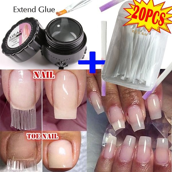 20pcs Fibernails 1pc Building Gel Fiberglass For Nail Extension Acrylic Nails Tips Set Wish Fiberglass Nails Acrylic Nail Tips Nail Extensions Acrylic