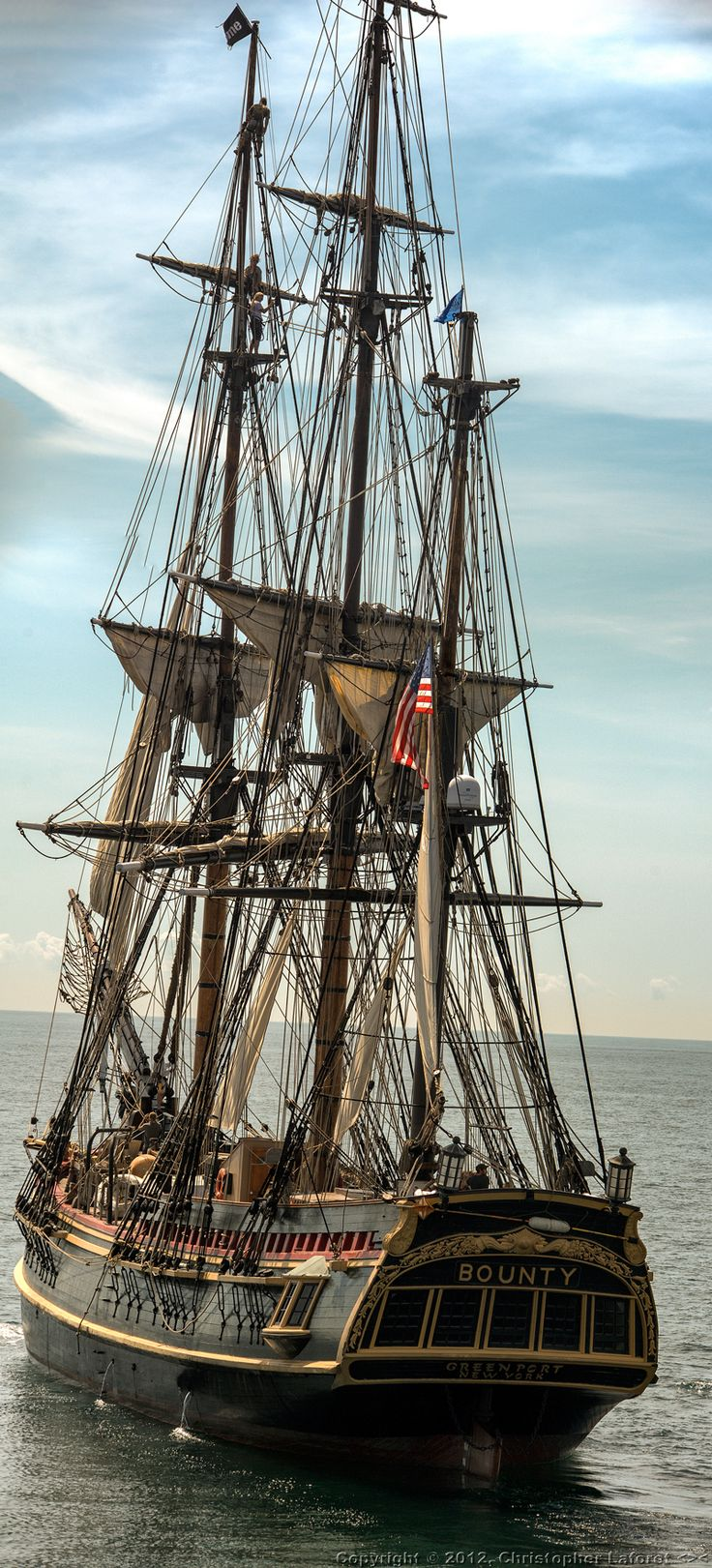 "Tall Ship HMS Bounty - built for the movie, ""Mutiny on The Bounty"" - lost in Super Storm Sandy"